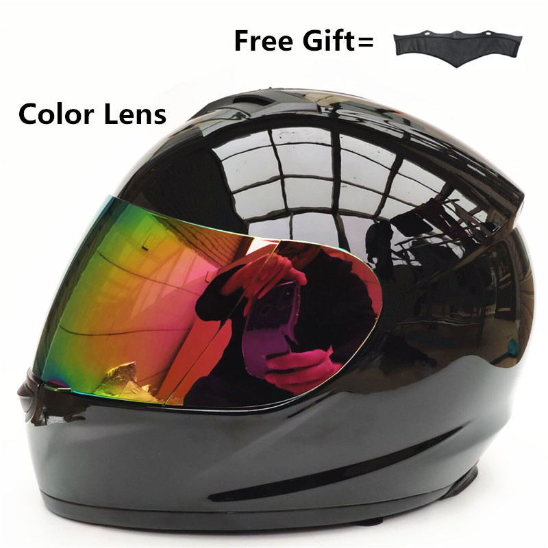 Silver lens Motorcycle Helmet Moto Racing Cross Capacetes Full Face Adult Motocross Off Road S