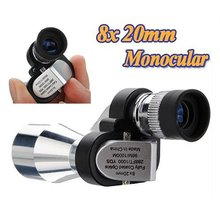 Mounchain Mini 8×20 Monocular Telescope Adjustment Low Light Night Vision Binocular Spotting Scope Hunting Bird Watching