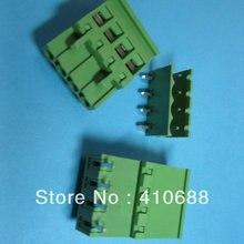 100 шт. 4way/pin шаг 5,08 мм зеленый цвет 2EDCD-5.08A-2EDCR винтовой клеммный блок разъем подключаемый тип угол Горячая Распродажа