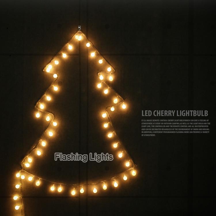 10M 50 led zsinór tündérfények cseresznye labda AC220V led - Üdülési világítás - Fénykép 3