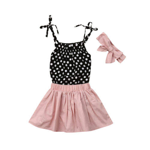 Conjunto top falda y diadema