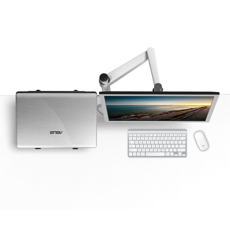OA 7 Height Adjustable Multifunction Monitor Laptop Holder 360 Degree Rotation Desktop Stand Support VESA Standard