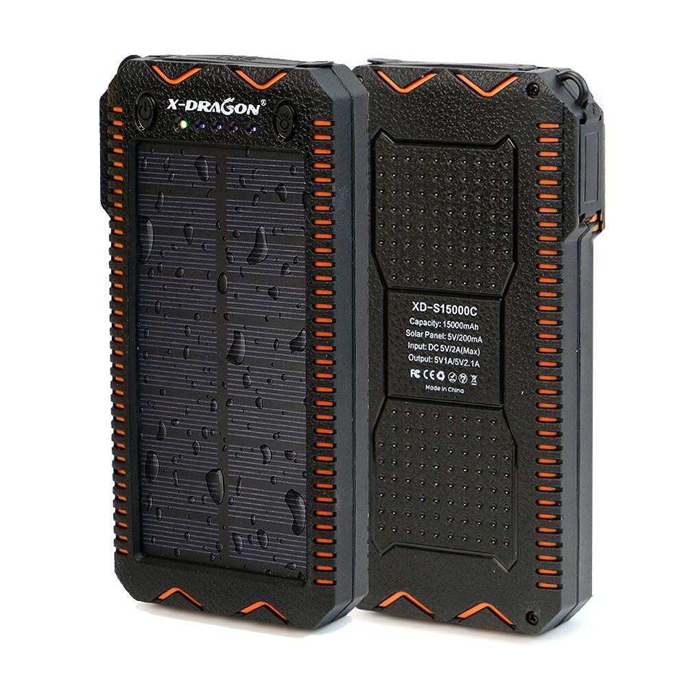 15000 mAh Solar Power Bank Tragbare Externe Batterie Solar Power Ladegerät mit Elektrische Zigarette Leichter für Smart Telefon