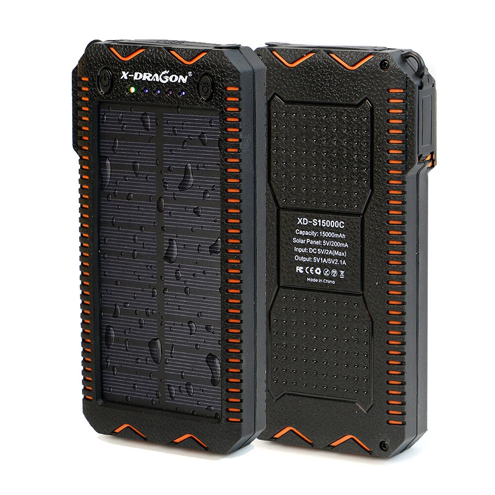 15000mAh Solar Power Bank Port...