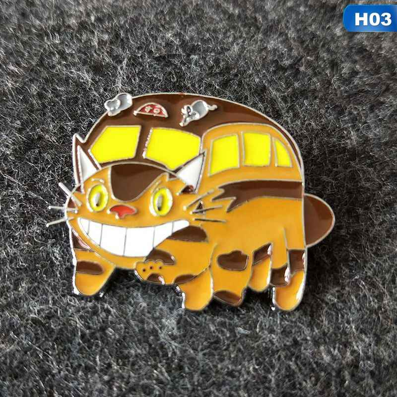 1 шт. из японского аниме Тоторо эмалированные булавки броши женские Девушки одёжная булавка значок мультяшный зверь брошь, ювелирный подарок для детей