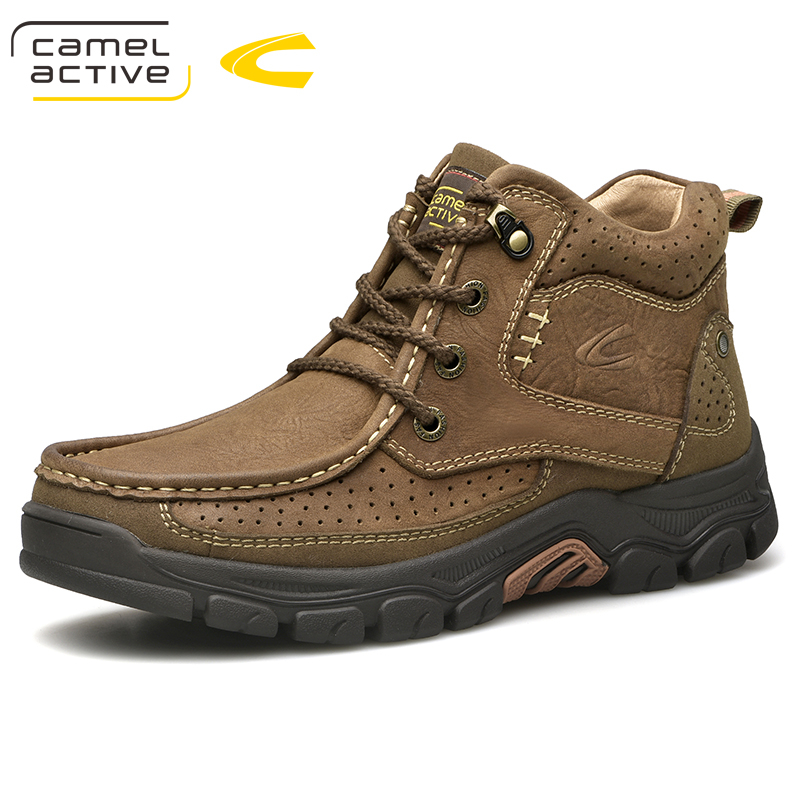 Camel Active New Men Waterproof Men Shoes Snow Boots Professional Outdoor Cow Leather Ankle Boot Sneakers cerruti 1881 fraicheur d ete pour homme