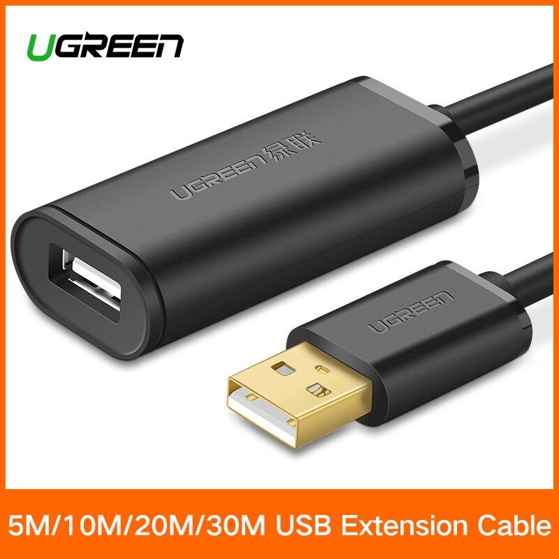 Ugreen USB Verlängerung Kabel 5 mt/10 mt/20 mt/30 mt Männlichen zu Weiblichen USB 3.0 Kabel signal Verstärker USB3.0 2,0 Extender Cord USB Verlängerung