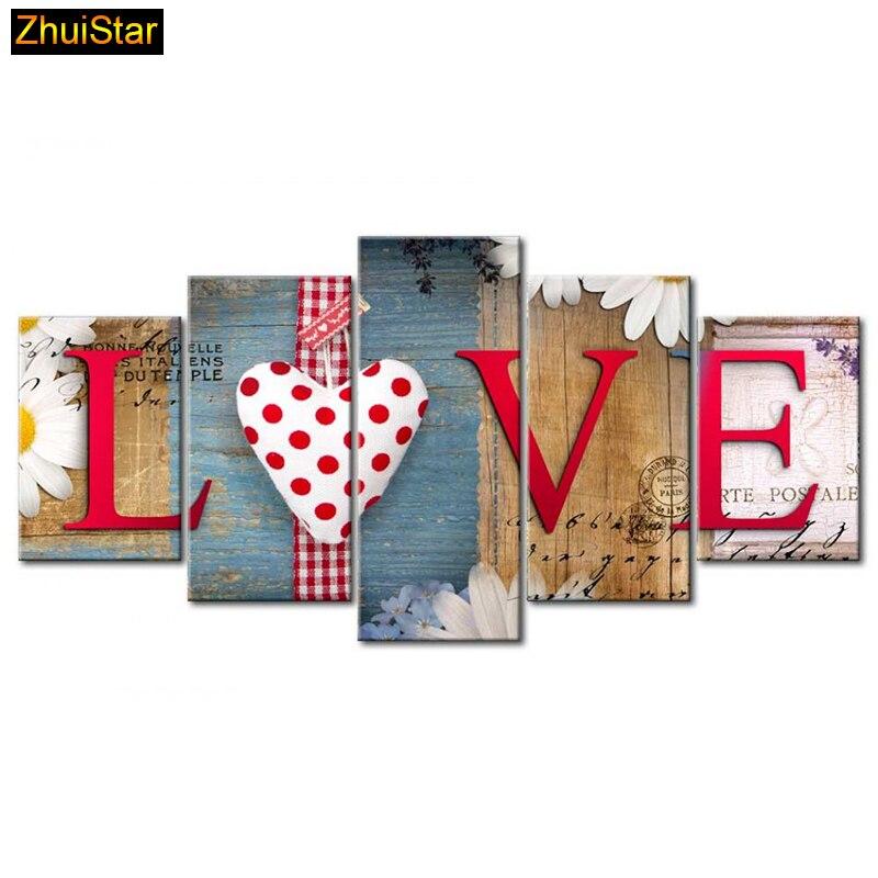 5D DIY полный квадратный алмаз живопись Любовь Семья мульти-картинка Комбинации Вышивка крестом мозаика дома стены декор