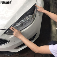 FUWAYDA High Quality Real Carbon Fiber decoration Headlights Eyebrows Eyelids cover for FORD Focus 2015 2016 good quality