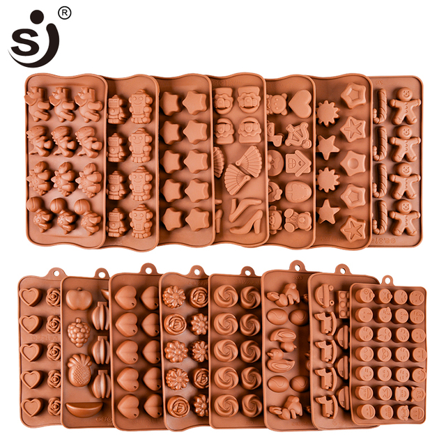 New Silicone Chocolate Mold 24Shapes Chocolate Baking Tools Non-stick Cake Mold Jelly&Candy Mold 3D Mold Decoration DIY Hot Sale 4