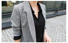 Gray Long Thin Blazer
