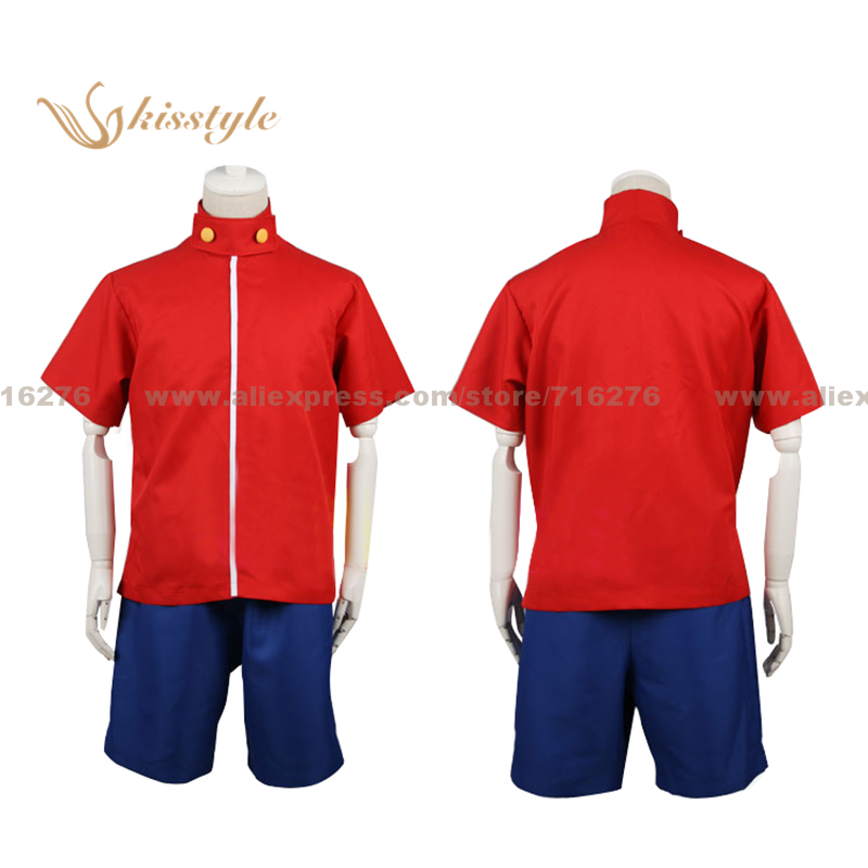 Kisstyle Fashion One Piece Monkey D. Luffy Uniform Cloth Cosplay Costume,Customized Accepted
