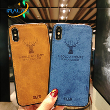 Купить с кэшбэком New Embossed Deer Phone Cases For Xiaomi Mi 5 6 8 SE Max 2 2s Note 3 Case Soft TPU Edge Canvas Cover Anki-knock Men Women Shell