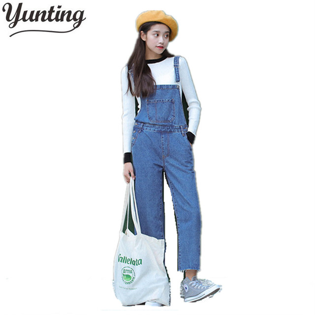 2018 New Fashion Women Embroidery Denim Straight Jeans Jumpsuit