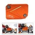 Orange accessaries motocicleta cnc de aluminio freno delantero tapa del depósito de líquido para dirt bike ktm duke 125 200 390
