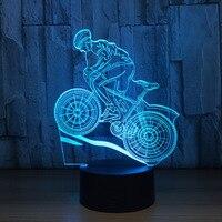 7 Colors Lamp USB 3D LED Lamp Mountain Bike 3D Night Lights Sleeping Lamp As Home