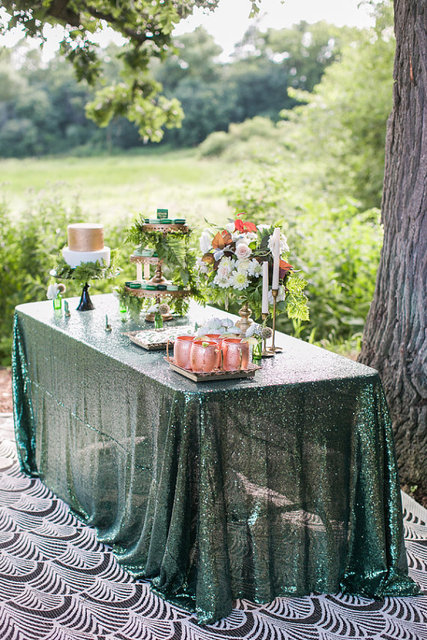 Ordinaire Free Shipping Cool! Elegant Emerald Sequin TableCloth/Overlay/Linens For  Wedding And Events