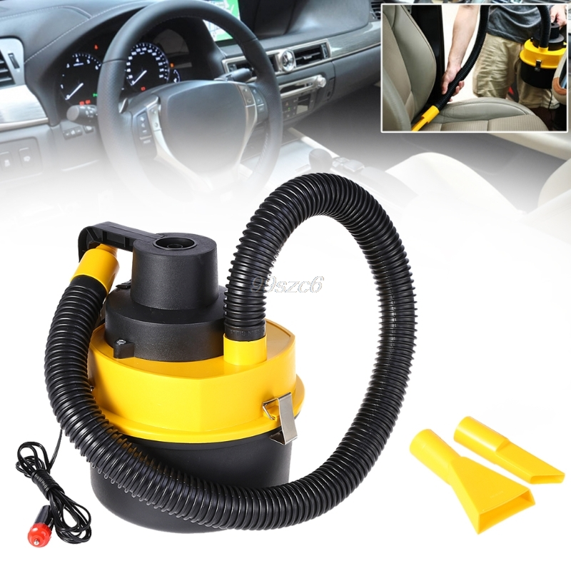 12V Portable Handheld Car Vacuum Cleaner Auto Wet Dry Dual Use Vacuum Cleaner Junn12 DropShip