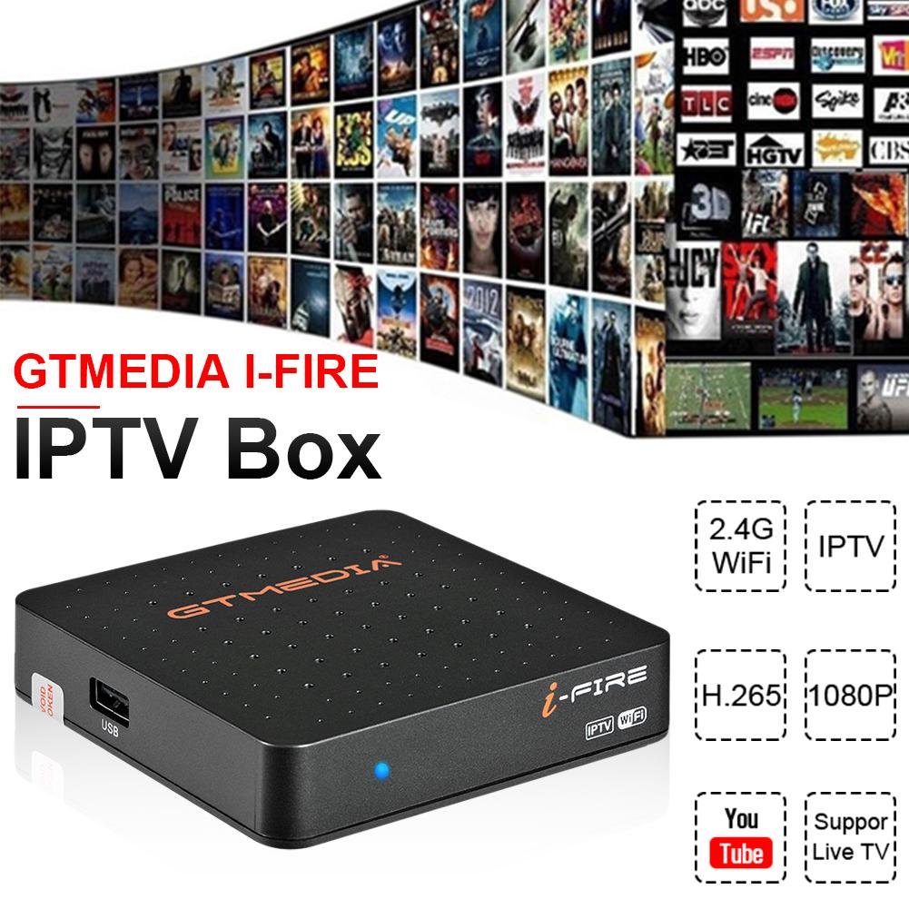 GTMEDIA I-FIRE TV Box IPTV Box Support XTREAM Network Player Built In 2.4G WiFi Support IEEE 802.1.1b/g/n HDMI 1.4(China)