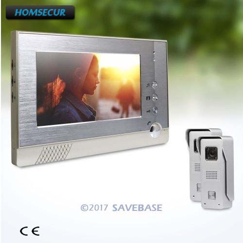 HOMSECUR 7inch Door Phone Intercom System with Real-time Outdoor Monitoring And Dual-way Audio Communication