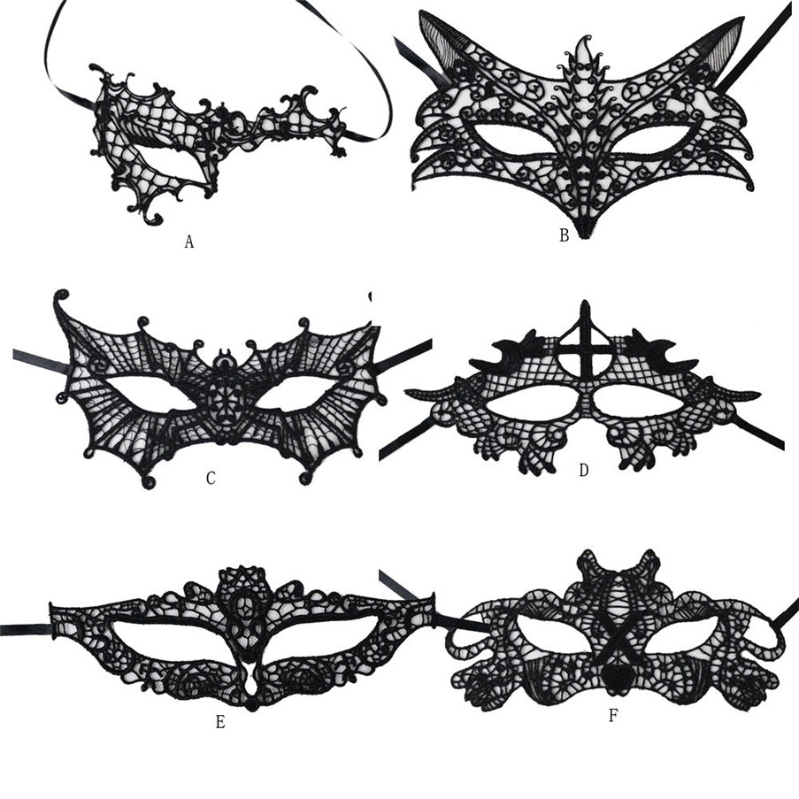 Dropshipping Sexy Elegant Eye Face Mask for Adult Games Masquerade Ball Carnival Fancy Party Black Hot