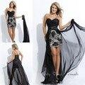 Frente curto longo voltar removíveis saia vestidos de baile Sexy vestido de festa vestido personalizado