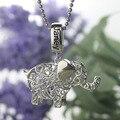 Оптовая Лаки Слон Ювелирные Изделия Пользовательские Камень Слон Ожерелье Имя Ожерелье Серебряный Талисман Лучший Подарок На День Рождения