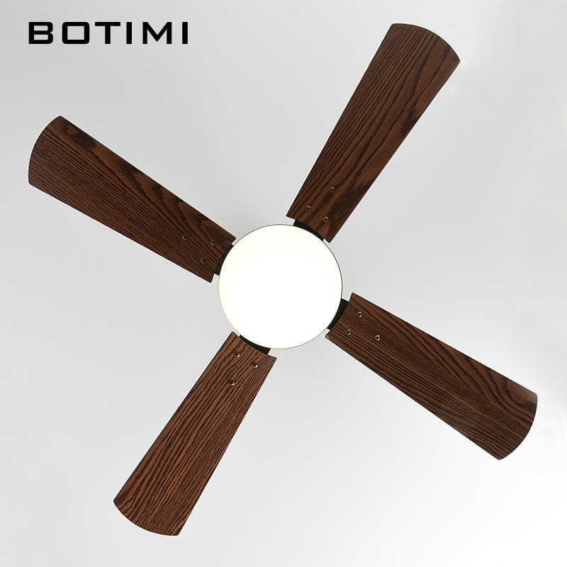 BOTIMI Новое поступление 42 дюйма светодиодный потолочный вентилятор для Гостиная современный комнатный вентилятор огни электрических вентиляторов 220 V охлаждения люстра-вентилятор