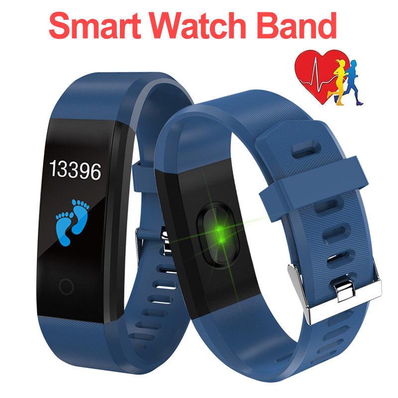 Activity Fitness Tracker Smartband Wristband Sport Health Bracelet Heart Rate Blood Pressure Smart Band