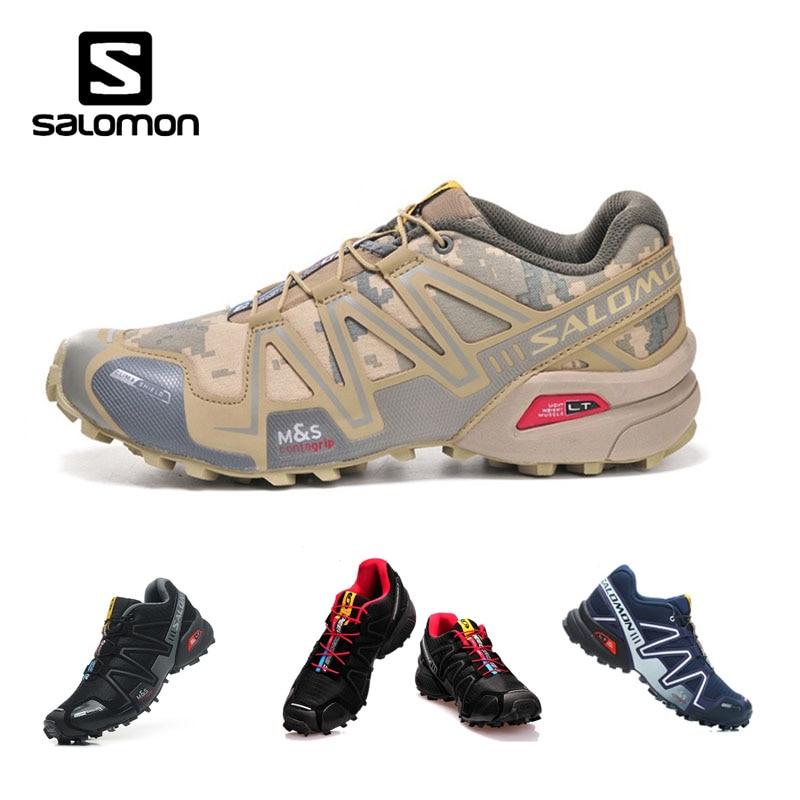 a75081337c7e Salomon Speed Cross 3 CS III Men Sneakers Camo Man Running Shoes Flats  Walking Shoes Lace