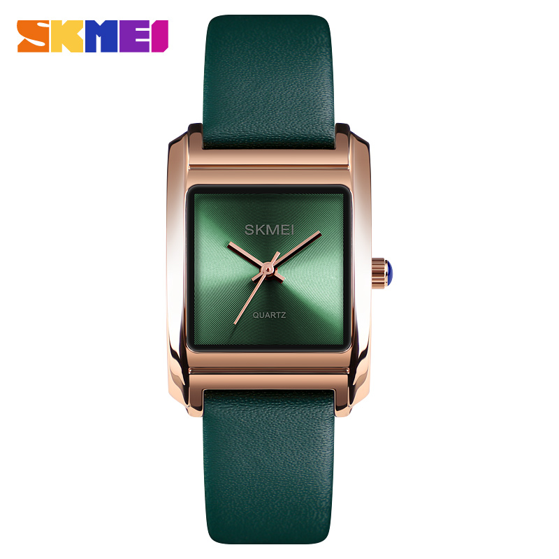 купить SKMEI Luxury Brand Women Watches Fashion Leather Quartz Watch Female Clock Dress Woman Watch 2018 montre femme Relogio Feminino онлайн