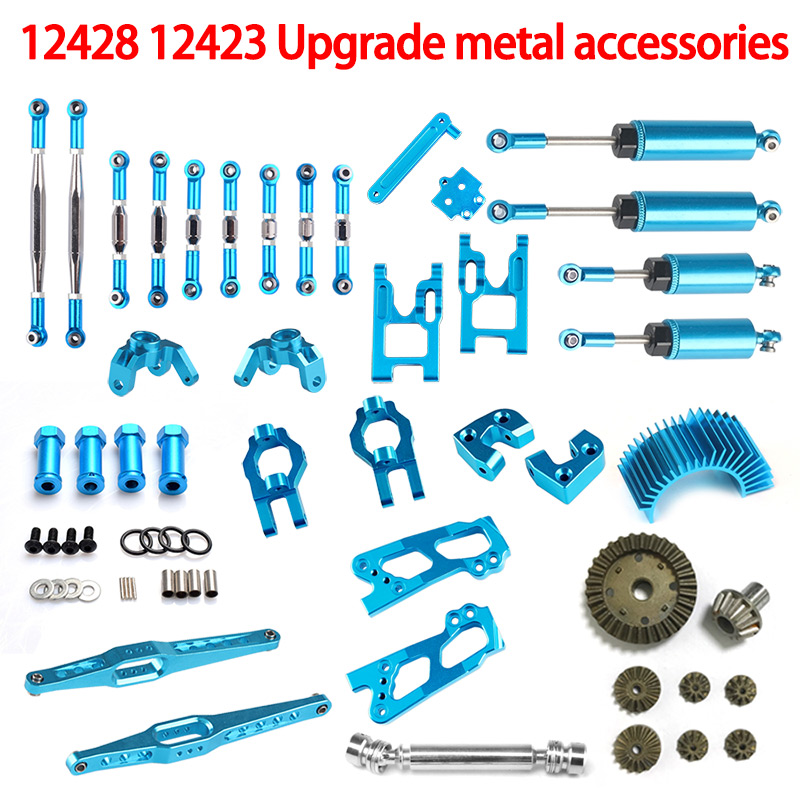 wltoys 12428 upgrade parts Desert Falcon Universal Vendor Kit Full Upgrade Parts transmission shaft Heat sinks Base C Gear Rear front diff gear differential gear for wltoys 12428 12423 1 12 rc car spare parts