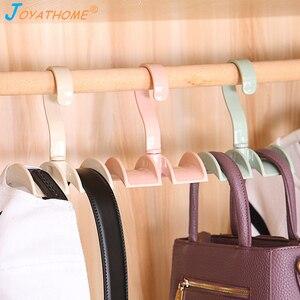 Image 1 - Joyathome استدارة التخزين رف حقيبة شماعات لا لكمة الملابس البلاستيك الرف الإبداعية التعادل معطف خزانة شماعات خزانة المنظم