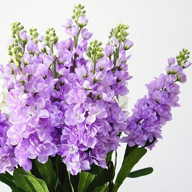 4 pièces artificielle jacinthe fleur violette branche fleurs artificielles pour automne automne maison mariage décoration fausses fleurs couronne
