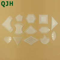 54pcs Bag Patchwork Template DIY Handmade Craft Sewing Tool Transparent Template Different Shape Pattern Quilter Quilting