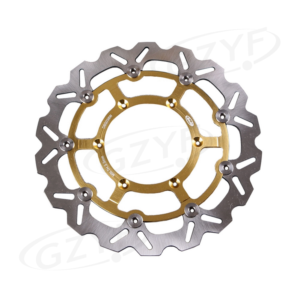 Motorcycle Front Brake Disc Rotor for Suzuki DRZ 400 SM DRZ400SM DRZ400 2005 2006 2007 2008 2009 Gold 1Piece
