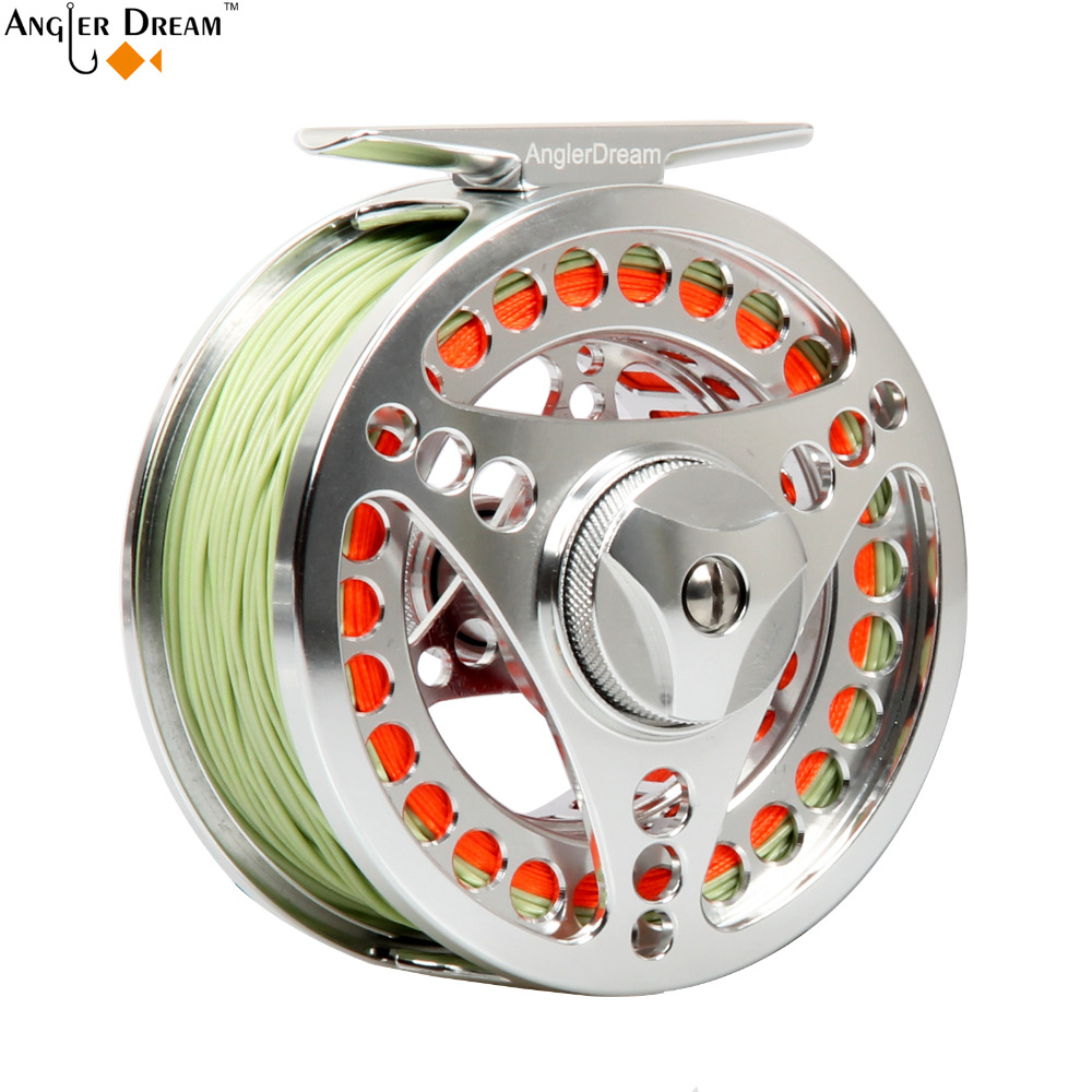 3/4 5/6 7/8 9/10WT Fly Fishing Reel Combo CNC Machine Aluminum Silver Large Arbor Aluminum Fly Reel Fly Line Leader Backing форма для леденцов cnc machine монпансье two 9 5 9 5 см