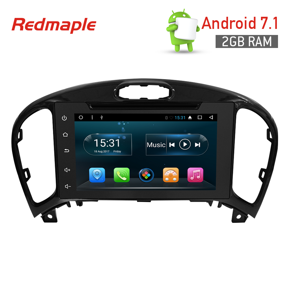 2G RAM Android 7.1 Car Radio GPS Navigation Multimedia Stereo Headunit for Nissan Juke 2016 Auto Audio Video Player in Dash