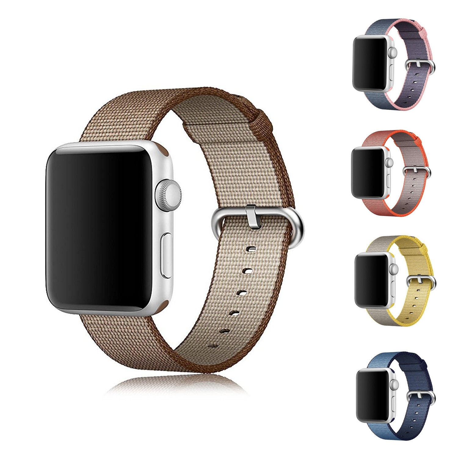 Newest Official2 Woven Nylon strap font b watch b font band For Apple font b Watch