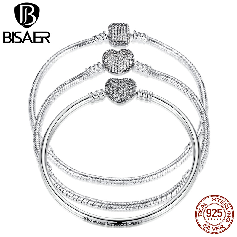 Black Friday 3 Style 925 Sterling Silver Snake Chain for DIY Charms Bracelet Women Pure Silver Bracelet Fashion Jewelry HJS905