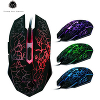 Promotions X6 2400DPI LED Optics 4D USB Wired Gaming Mouse Professional Players Computer Mouse PC Multi