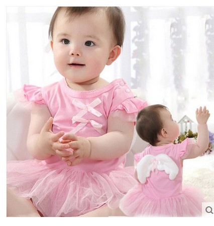 Newborn Baby dresses for girls Angel Wing dress for girls infant  tutu 1 year princess kleding jurkjes babies party clothing