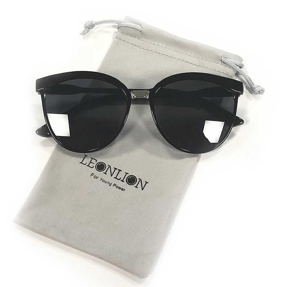 LeonLion cukierki marka projektant okulary przeciwsłoneczne cat eye kobiety luksusowe plastikowe okulary przeciwsłoneczne klasyczne Retro Outdoor Oculos De Sol Gafas