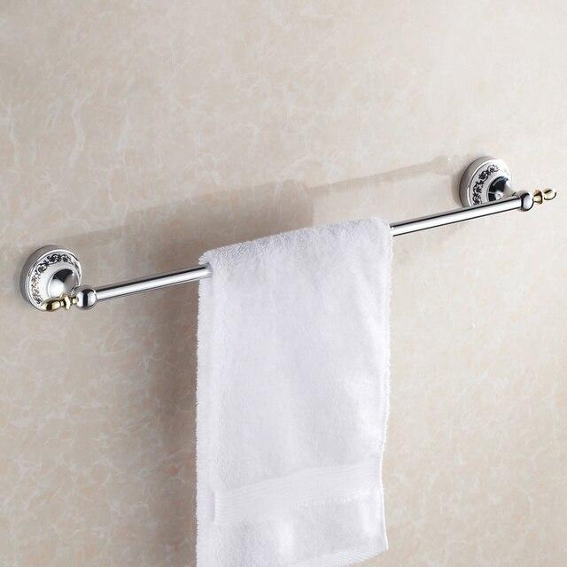European Antique Towel Bar Porcelain Gold Silver Single Stand Rack Polished Bathroom