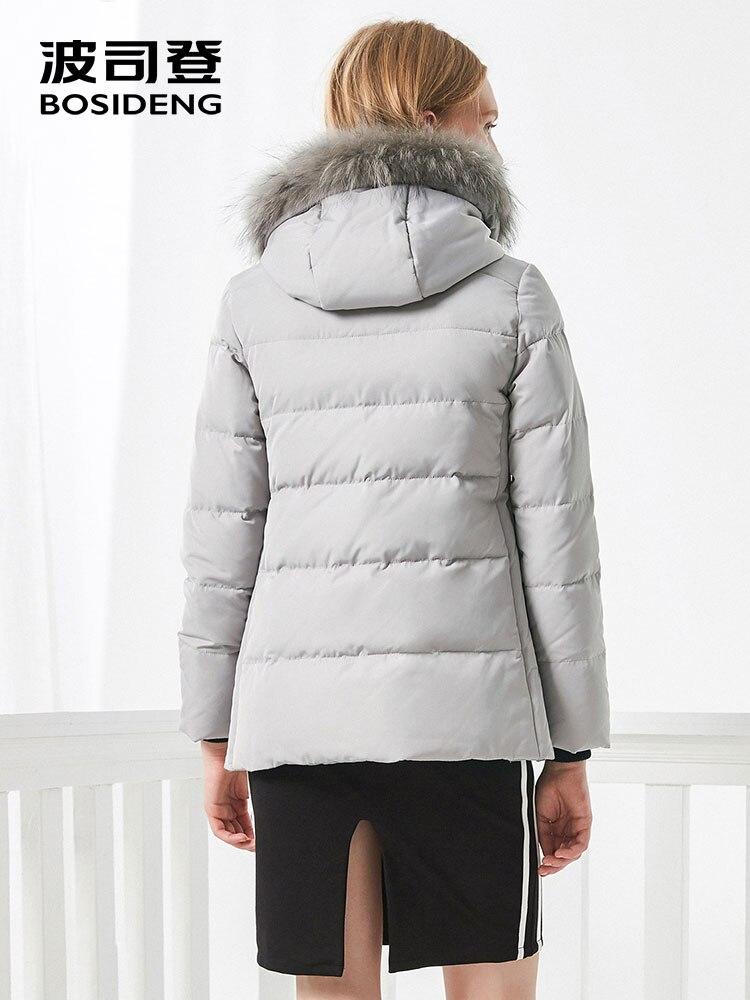 Image 4 - BOSIDENG women down coat winter thick down jacket mid long real  fur collar thick parka ribbons pocket B70141058Down Coats   -