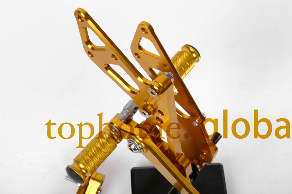 Motorcycle Golden CNC Rearsets Foot Pegs Rear Set For Suzuki GSX1000R 2009-2014 2010 2011 2012 2013 motorcycle foot pegs