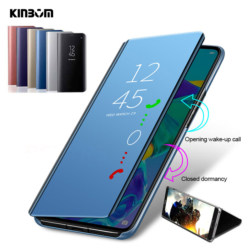 kinbom Smart <font><b>mirror</b></font> <font><b>flip</b></font> bracket mobile phone <font><b>case</b></font> for <font><b>Samsung</b></font> S7 EDGE S10E protective shell for <font><b>Samsung</b></font> S8 S9 <font><b>S10</b></font> plus <font><b>case</b></font> image