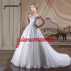 Vestidos De Novia 2019 дизайн свадебное платье Роскошные кружево аппликации трапециевидной формы платья для женщин Свадебные платья на заказ