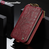 CaseMe Song For IPhone 6 6s Plus Leather Phone Cases Luxury Chic 2 In 1 Metal