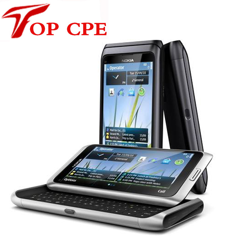 Fast Free Shipping Original E7 Nokia E7 Mobile Phone Camera 8MP GPS WIFI QWERTY Russian keyboard